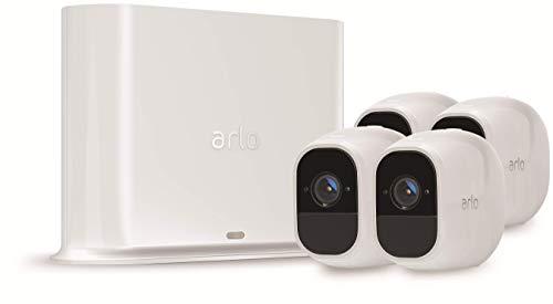 Arlo Pro 2 VMS4430P-100EUS - Sistema de seguridad y vídeo vigilancia de 3 cámaras sin cables 1080p HD (recargable, interior/exterior, visión nocturna, audio bidireccional, visión 130º)
