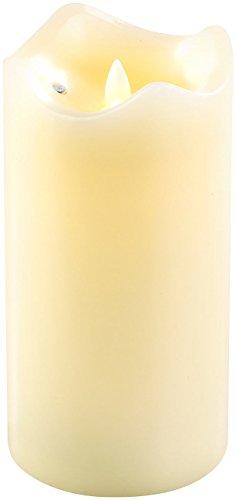 Britesta Flackerkerzen: LED-Echtwachskerze mit beweglicher Flamme, 18 cm hoch (LED Kerzen Echtwachs)