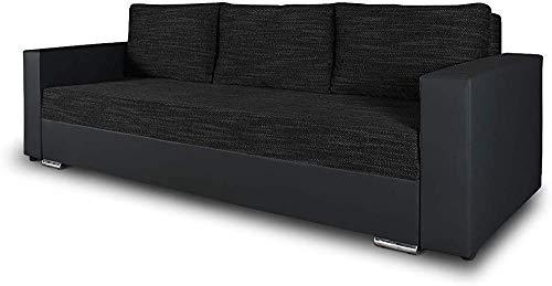Sofá cama, caja de cama con pies de cromo Sofá plegable, sofá cama con función de sueño,E