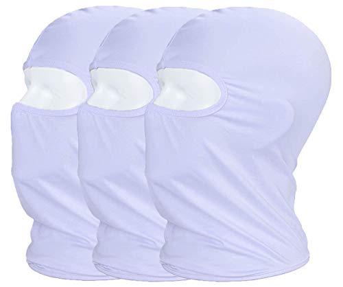 MAYOUTH Sturmhaube Balaclava UV Schutz Gesichtsmasken für Radfahren Outdoor Sports Vollgesichtsmaske Breath, Weiß, M