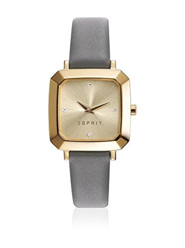 Esprit Damen Datum klassisch Quarz Uhr mit Leder Armband ES109322002