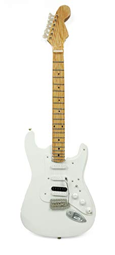 Guitarra en miniatura decorativa de guitarra eléctrica Fender Stratocaster 24 cm blanco #191