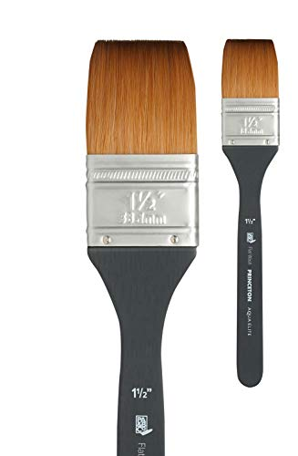 Princeton Aqua Elite, Series 4850, Synthetic Kolinsky Watercolor Paint Brush,Flat Wash, 1-1/2 Inch