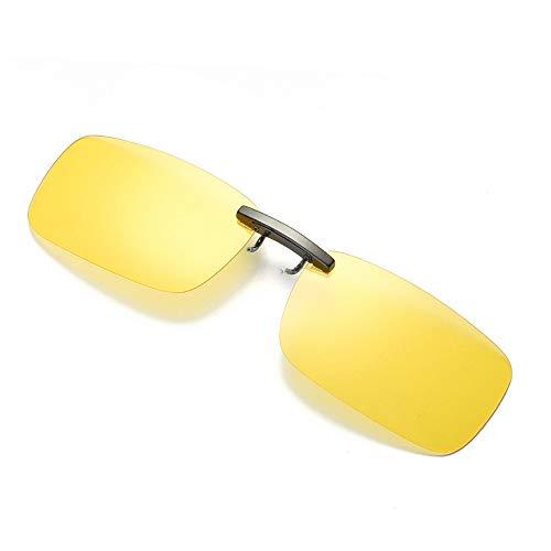 UROSA - Gafas de sol con lentes de visión nocturna desmontables, polarizadas, de metal - Amarillo - talla única