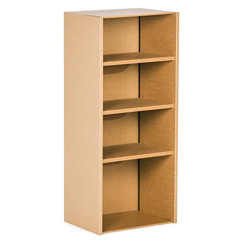Stange Regal Wolf aus Pappe für schwere Bücher mit verstärkten Regalböden