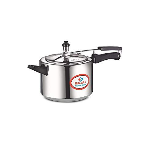 Bajaj PCX 33, 3 LTR Inner Lid Pressure Cooker (Silver, ISI Certified)