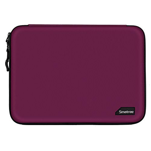 Smatree Hard Shell Laptop Retina Display Sleeve Protective Bag for Macbook 12 Inch/Air 13 Inch/Pro 2019 13.3 Inch, Surface Go/Surface Pro 6 Red Wine