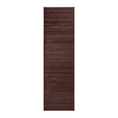 Alfombra para salón de bambú (60 x 200 cm, Chocolate)
