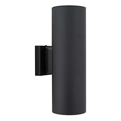 Sunset Lighting F6902-31 Round Two Light Exterior - Aluminum Sconce - With Black Finish