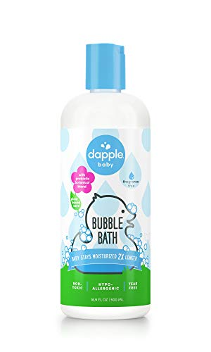 DAPPLE Baby Bubble Bath, Fragrance Free Bubble Bath, Plant Based, Hypoallergenic, 16.9 Fluid Ounces