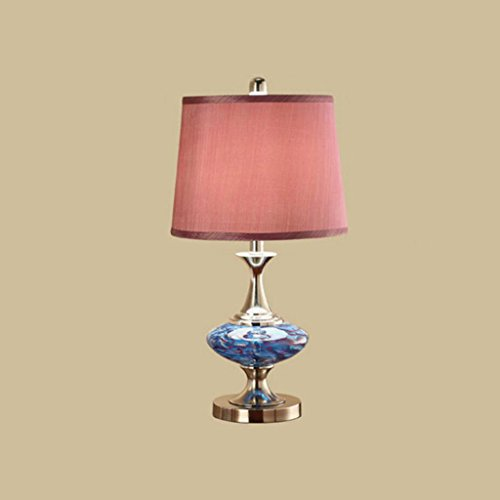 Lampe de table Lampe de table en verre lampe de table chambre à coucher salon lampe de table décorative lampe de table simple créative de mariage de mode, E27