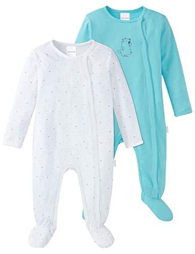 Schiesser Baby-Mädchen Multipack 2pack Anzug + Beutel Zweiteiliger Schlafanzug, Mehrfarbig (Sortiert 1 901), 68 (2er Pack)