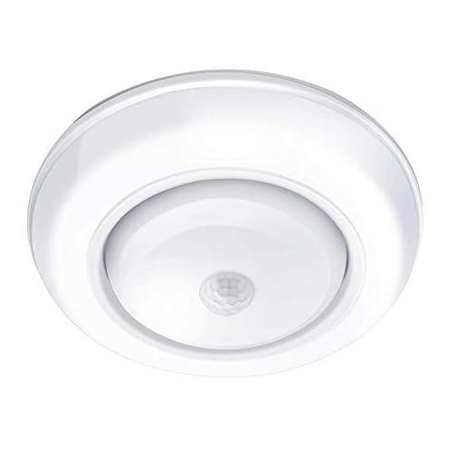TOOWELL Motion Sensor Ceiling Light Battery Operated Wireless Motion Sensing Activated LED Light White 180 Lumen Indoor… 3