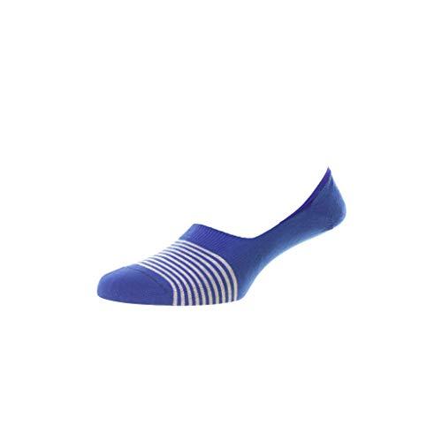 Pantherella Sienna Herren-Socken aus ägyptischer Baumwolle, blau, Medium