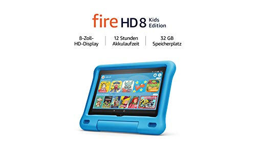 Fire HD 8 Kids Edition-Tablet, 8-Zoll-HD-Display, 32 GB, blaue...