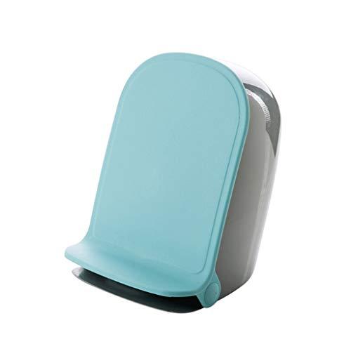 WPBOY Botes de Basura Oblicua Horizontal plástico Papelera, Pedal Bote de Basura, 1,5 litros de Capacidad, for el Dormitorio, Cocina, Sala de Estar, baño Inicio Cubos de Reciclaje (Color : Blue)