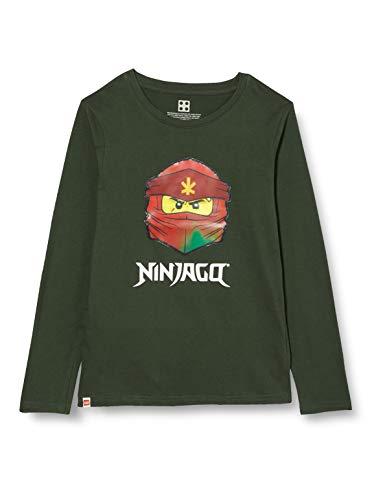 LEGO Jungen MW-Langarmshirt Lentikulardruck Ninjago T-Shirt, 831 Light Green, 128
