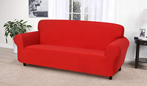 Madison Jersey Sofa Slipcover, Red