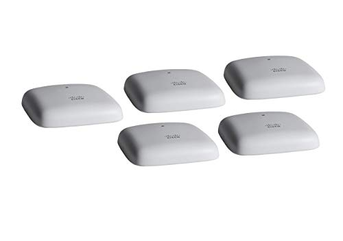 Cisco Business 140AC Wi-Fi Access Point, 802.11ac, 2x2, 1 GbE Port, Ceiling Mount, 5 Pack Bundle, Limited Lifetime Protection (5-CBW140AC-B)