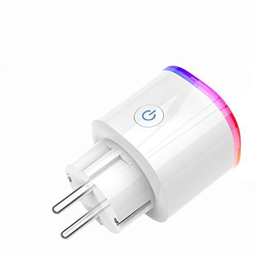 Ancoree Actualizado Wifi Smart Plug con Función de Temporizador,Conmutador Inalámbrico Remoto Enchufe con Luz de LED RGB,Control Remoto de la APP,Compatible con Alexa, Google Home&IFTTT
