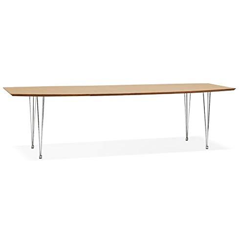 Table à dîner/de réunion Extensible 'XTEND' en Bois Finition Naturelle - 170(270) x100 cm