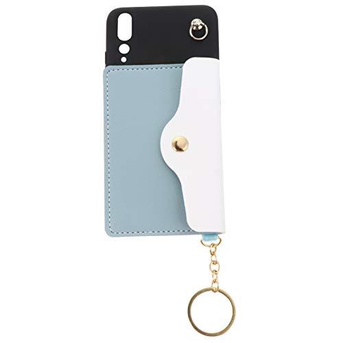 Toyvian Carteira de Telefone Celular Id Cartão de Crédito Carteira Titular Capa de Telefone Bolsa Bolsa Bolso Capa Protetora Do Telefone Com Chaveiro Compatível para Huawei P20 Pro