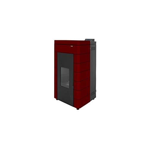 Estufa de pellets de acero modelo CORAL, potencia térmica nominal hasta 23 kW, rendimiento de 92%, programador de horario, eficiencia energética A+, 73 x 70 x 117 centímetros (Referencia: 7503418)