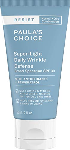 Paula's Choice Resist Anti Aging Light Tinted Moisturiser SPF 30 - Mattifying Day Cream with Vitamin E & Resveratrol - Mineral Sun Protection with Zinc Oxide - Combination to Oily Skin - 60 ml