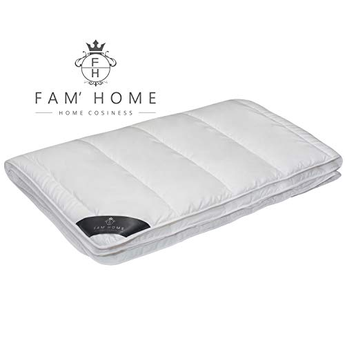 FAM Home Microfibra Edredón Nórdico 200x220 cm I Relleno Nórdico Hipoalergénico, Lavable, Invierno e Verano, Blanco