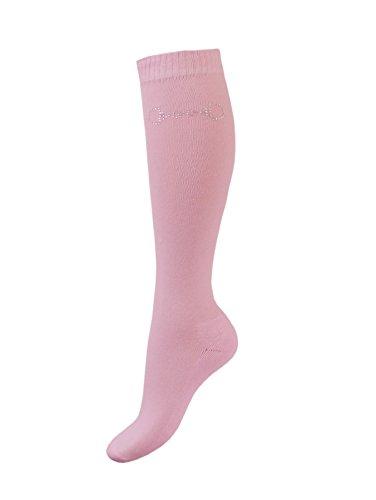 Esperado Kniestrumpf mit Strassmotiv \'Gebiss\' in rosa, Größe:39-42