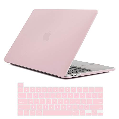 Se7enline MacBook Pro 2020 Case 13 inch Plastic Hard Shell Laptop Cover for MacBook Pro 13-inch Model A2338/A2251/A2289 with Touch Bar Touch IDd with Keyboard Protective Skin, Rose Quartz