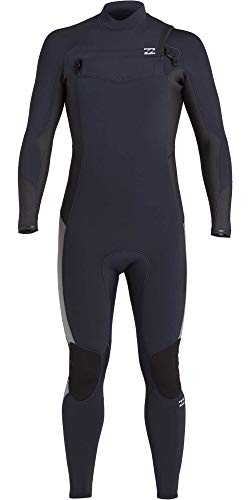 BILLABONG Mens Absolute 4/3mm Chest Zip GBS Wetsuit - Navy - thermische warme Wärme legere Furnace Futter Einfache Stretch