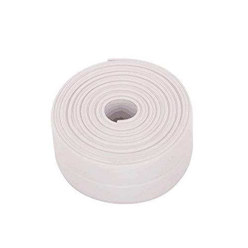 BDFV Badezimmer Duschwanne Bad Dichtungsstreifen Klebeband PE Selbstklebender Dichtband, Küche, Wandboden , Toilette, Wasserdichtes Dichtungsband. (3.2m×3.8cm, Weiß)