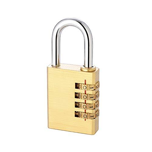 CLLC Puur koperen wachtwoord hangslot-koffer, slot, sluitvak, schooltas, tassen, kleine huishoudwachtwoordblokkering, inches vergrendeld.