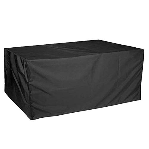 MEEYI Furniture Dust Cover 330x220x70cm, Square Waterproof Windproof Anti-UV Patio Furniture Covers, for Patio, Outdoor, Garden Furniture Protector. - Black