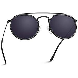 WearMe Pro – Round Double Bridge Polarized Modern Retro Sunglasses
