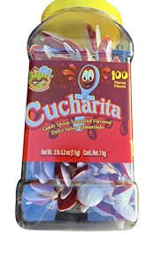 Large 100 piece Container of Tamarind Flavored Hot Spoon candy(cucharita Con Tamarindo) Pinatera Mexican classical party snacks