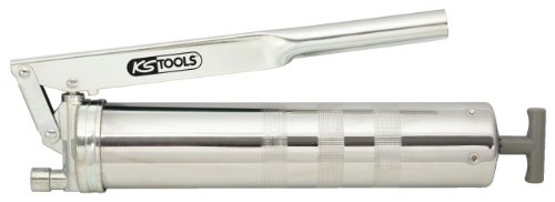 KS Tools 980.1010 Hebel-Fettpresse mit flexiblem Schlauch, 400g