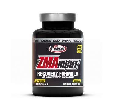 ProNutrition ZMA NIGHT (90 cps) Zinco, Magnesio, Vit B6, Tryptofano, Melatonina - Recovery formula