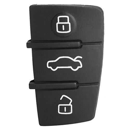 3 botones Smart Key Cover Case Cover Shell Negro/Plata para Audi A3 A4 A6 A8 TT Q7 S6