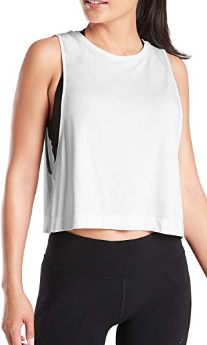 Sanutch Women Workout Yoga Tops Running Summer Low Armhole Shirt Flowy Racerback Tank