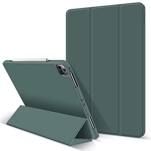 Huiran Estuche para Nuevo iPad Pro 11 2020 Estuche iPad Pro 2020 12.9 2da 4ta generaciónSoporte deEstuche magnético FuerteApple Pencil-Dark Green11