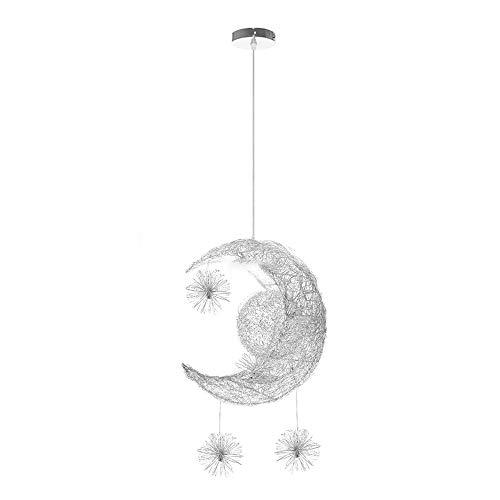Lámpara Colgante LED, Lámpara De Luz De Techo Luna Y Estrellas Decoración De Luz De Hadas Para Sala De Estar Dormitorio Restaurante Estudio Café (luz blanca)