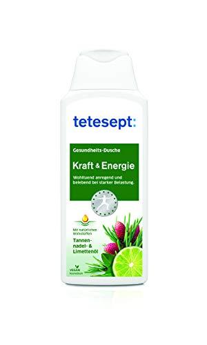 tetesept Kraft & Energie Dusche, Aufbauend und stärkend bei Erschöpfung mit Fichtennadel- & Limettenöl, Intensiver Duft durch natürliche Wirkstoffe, 5x250ml