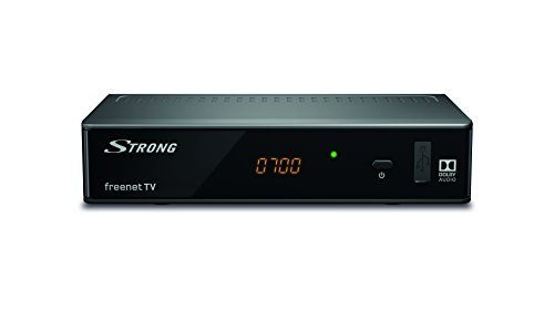 STRONG SRT8541 Décodeur TNT Full HD, tuner DVB-T/DVB-T2, HEVC/H265, flux RSS par ethernet, HDMI, Péritel, Enregistrement et lecture par USB, Dolby Digital plus, noir