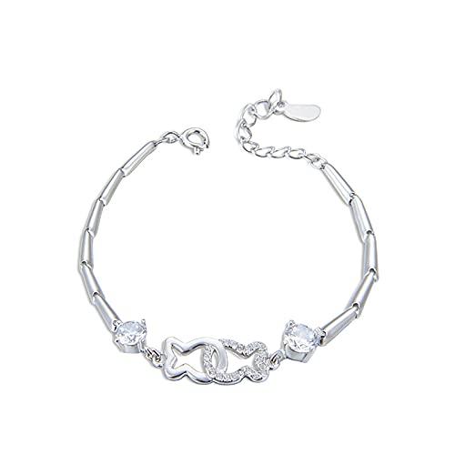 1 pulsera para mujer, estilo chino de pescado, diseño de diamantes, diseño de circonitas, personalizable, para el tobillo, diseño de animales