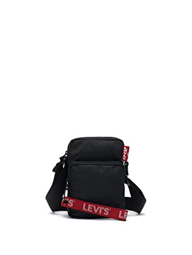 Levi´s Citybag L SERIES CMALL CROSS BODY TWILL TAPE 229929-0008-0059 Schwarz, Size:ONE SIZE