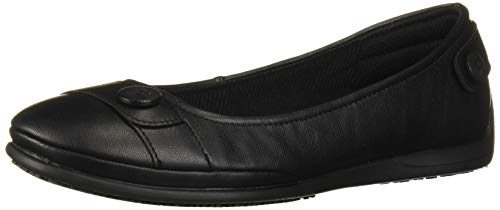 Skechers Women's Flattery-Argoed Health Care Professional Shoe, Black, 6 M US