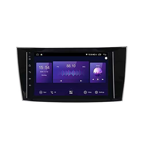 Gokiu Android 10 Car Radio de Navegación GPS para Mercedes Benz W211/G-W463/CLK-W209/CLS-W219 con 8 Pulgada Táctil Support 5G FM Am RDS/DSP MP5 Player/Steering Wheel Control/Carplay,7862: 6+128gb