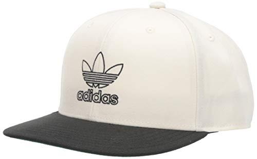 adidas Originals Herren-Kappe mit Signature Outline Snapback, Herren, Mütze, Originals Signature Outline Snapback Cap, Weiß/Schwarz, Einheitsgröße